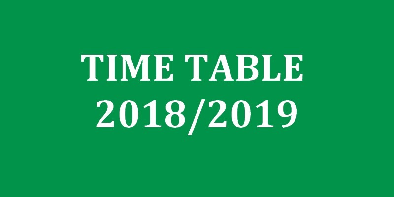 Timetable of the Faculty of Sciences of the University of Yaounde I of the Academic Year 2018-2019