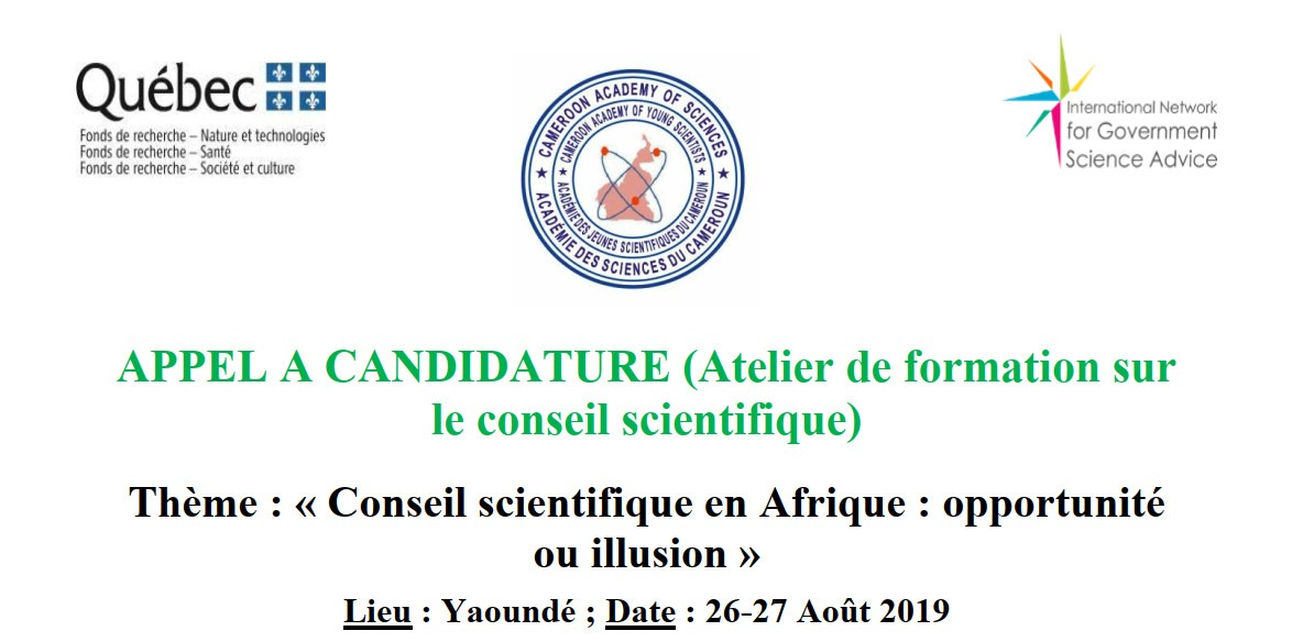 CALL FOR CANDIDATURE (Training Workshop on the scientific council)