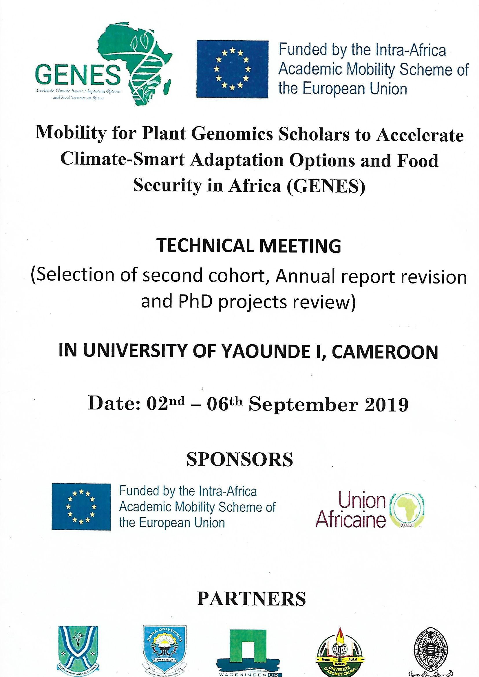 Mobility for Genomics Scholars to Accelerate Climate-Smart Adaptation Options And Food Security in Africa (GENES)