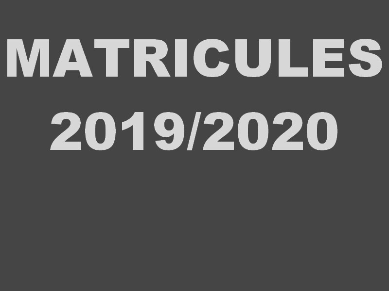Matricles list for the academic year 2019/2020, BIOSCIENCES