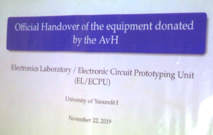 Official handover of the equipment donated by the AvH to the Faculty of Sciences